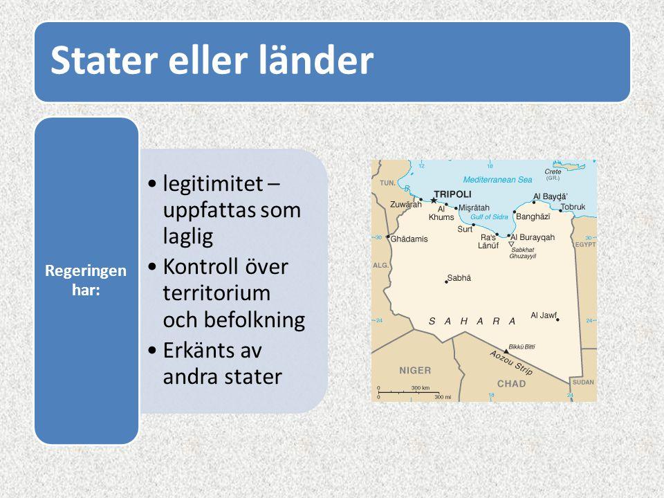 Stater eller länder legitimitet – uppfattas som laglig