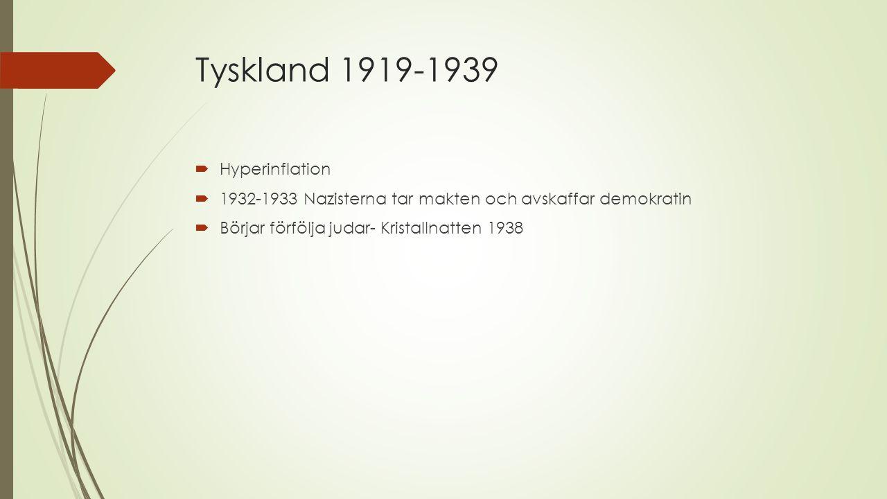 Tyskland 1919-1939 Hyperinflation