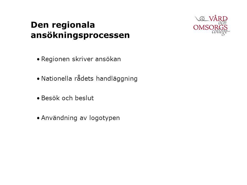 Den regionala ansökningsprocessen