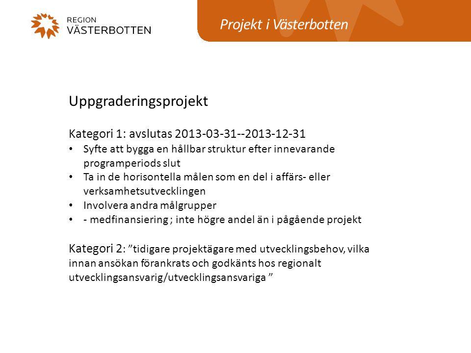 Projekt i Västerbotten
