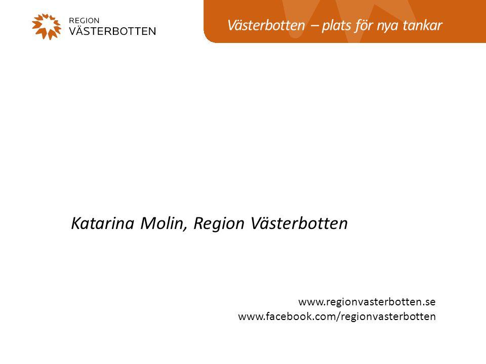 Katarina Molin, Region Västerbotten
