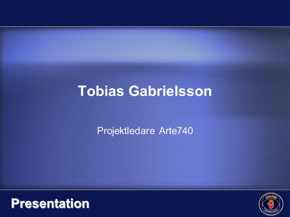 Tobias Gabrielsson Presentation Projektledare Arte740