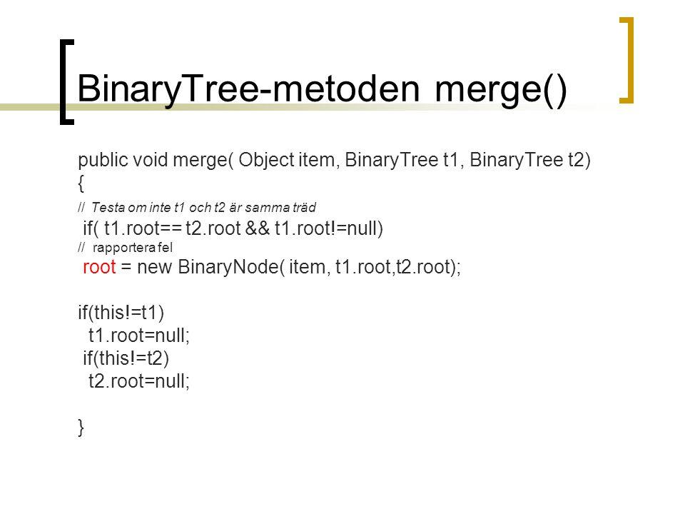 BinaryTree-metoden merge()