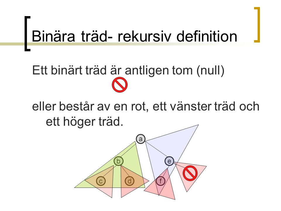 Binära träd- rekursiv definition