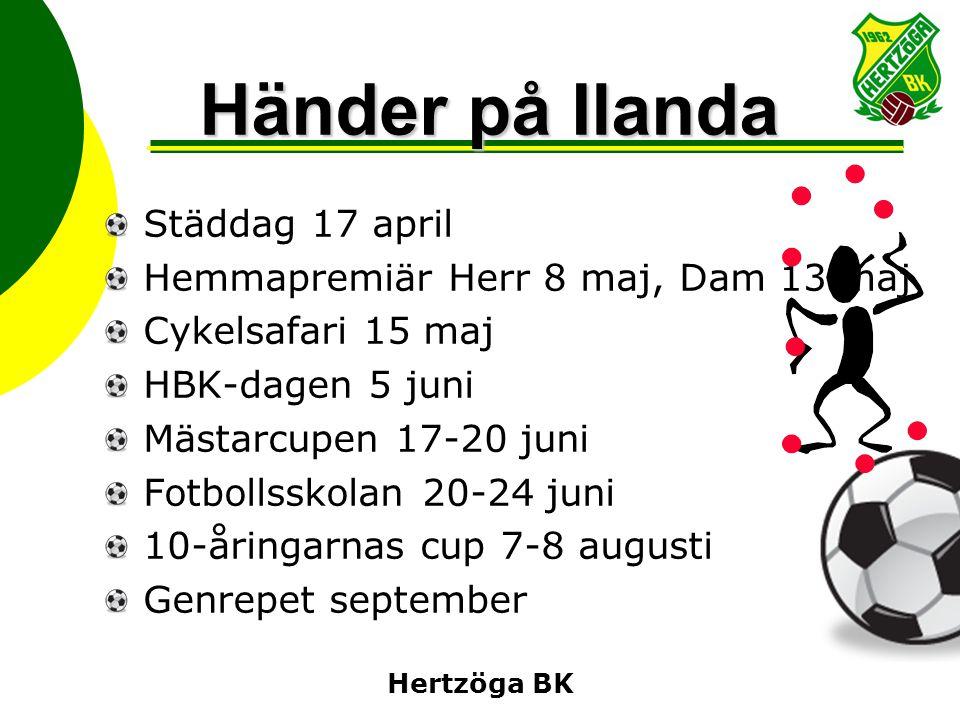Händer på Ilanda Städdag 17 april Hemmapremiär Herr 8 maj, Dam 13 maj