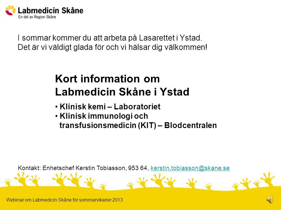 Labmedicin Skåne i Ystad