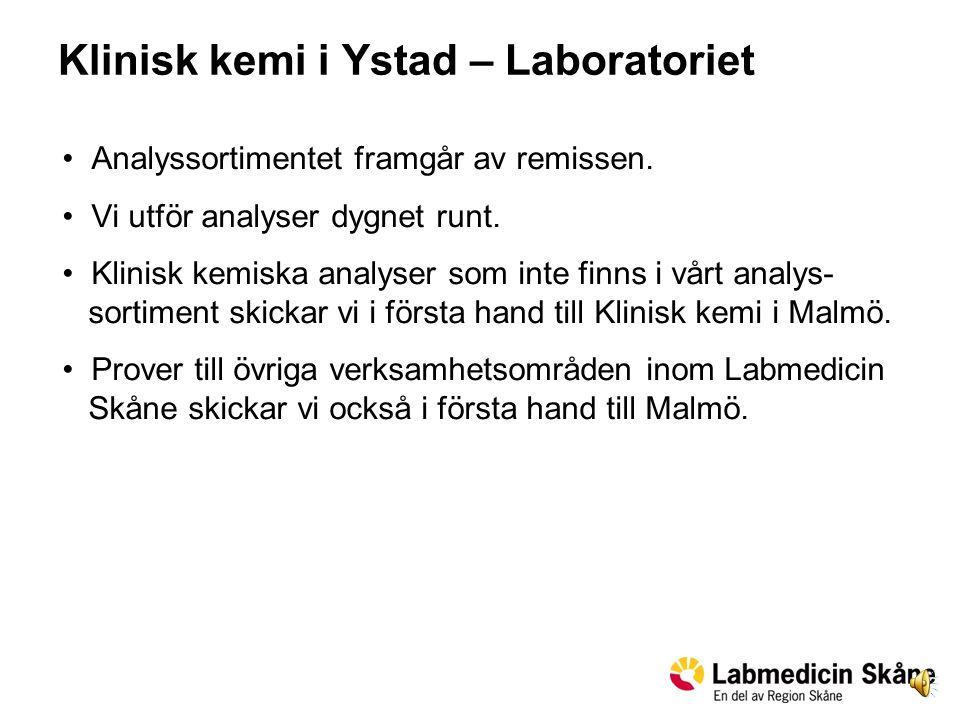 Klinisk kemi i Ystad – Laboratoriet