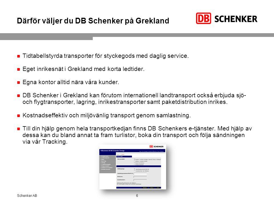 Därför väljer du DB Schenker på Grekland