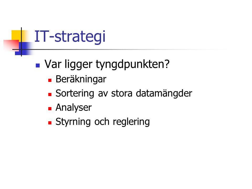 IT-strategi Var ligger tyngdpunkten Beräkningar