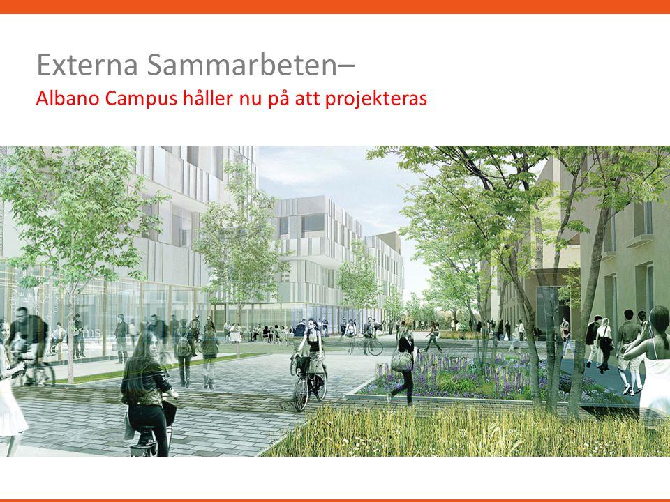Externa Sammarbeten– Albano Campus håller nu på att projekteras