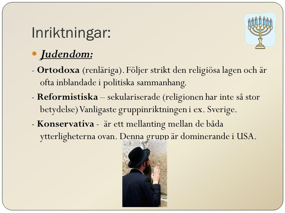 Inriktningar: Judendom: