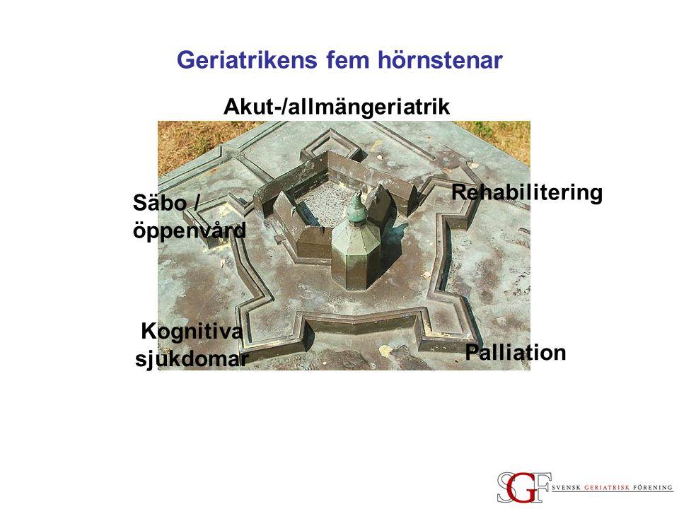 Geriatrikens fem hörnstenar Akut-/allmängeriatrik