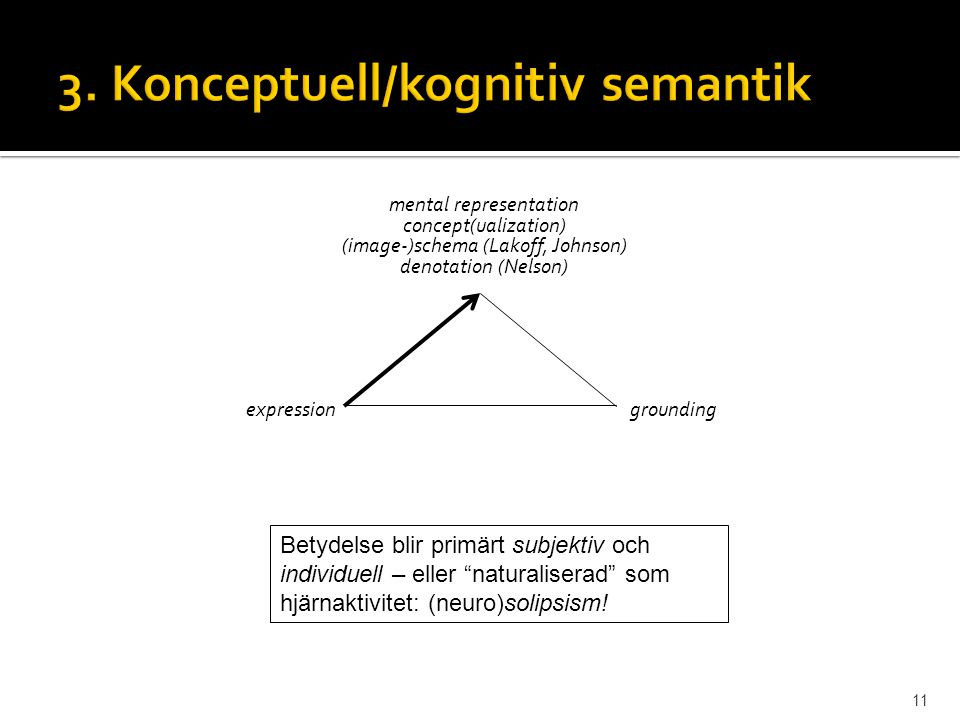3. Konceptuell/kognitiv semantik