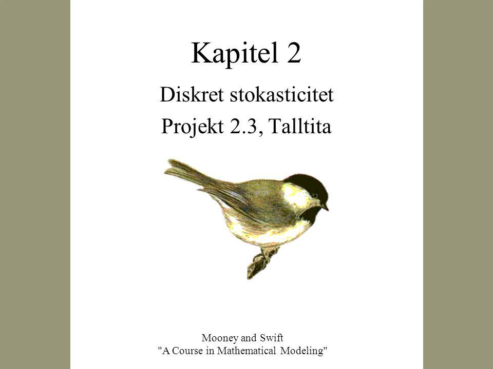 Diskret stokasticitet Projekt 2.3, Talltita