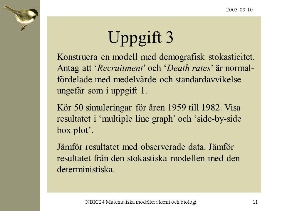 NBIC24 Matematiska modeller i kemi och biologi