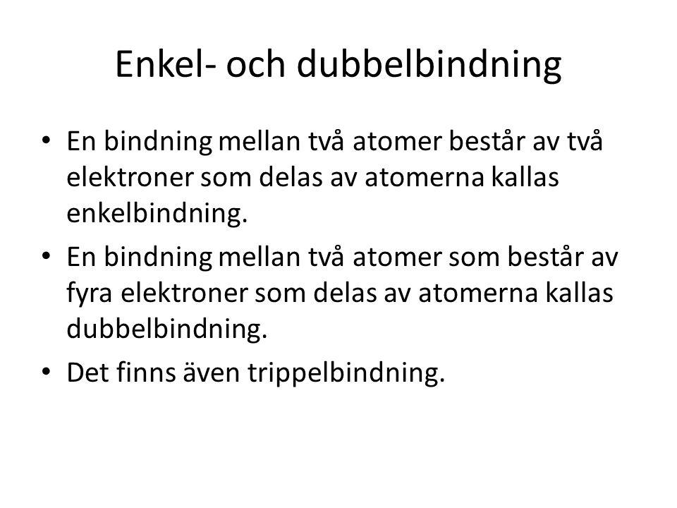 Enkel- och dubbelbindning
