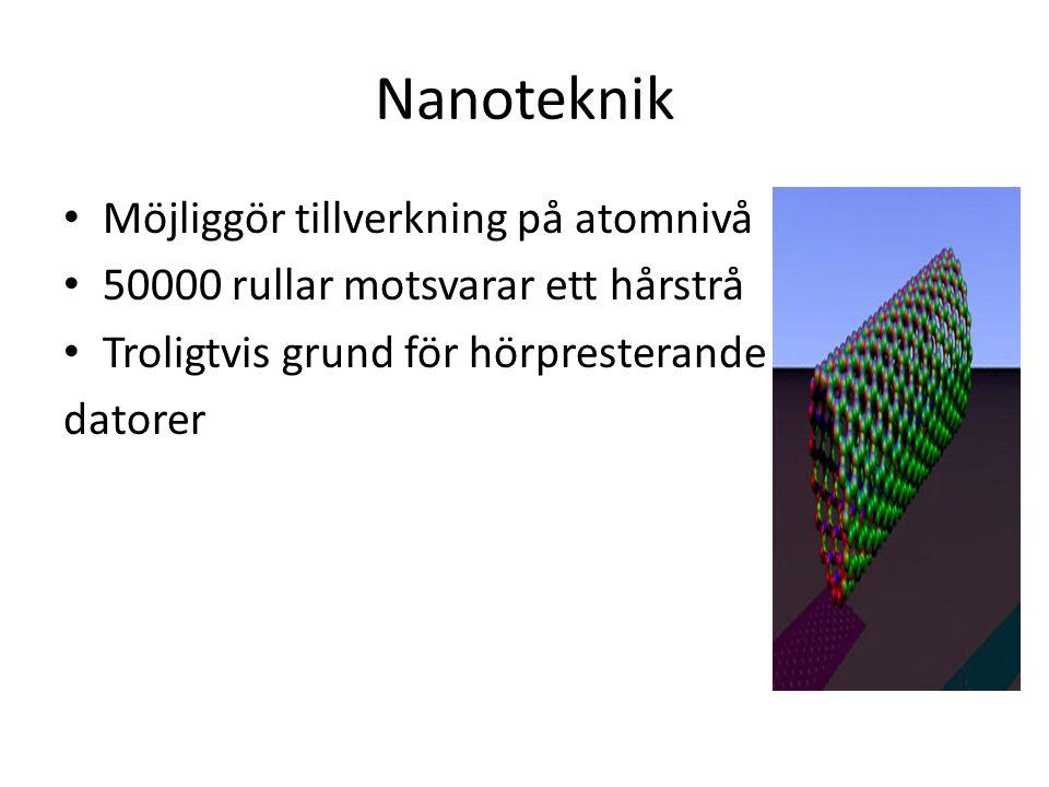 Nanoteknik Möjliggör tillverkning på atomnivå