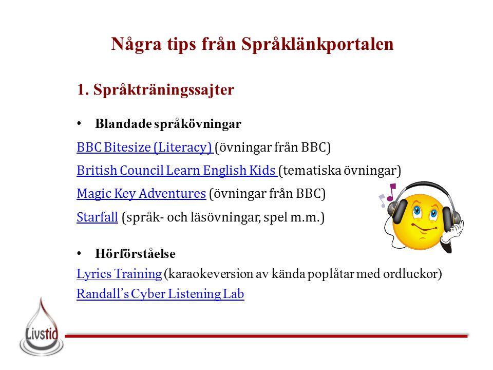 Några tips från Språklänkportalen