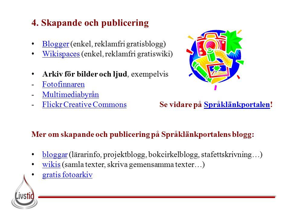 4. Skapande och publicering