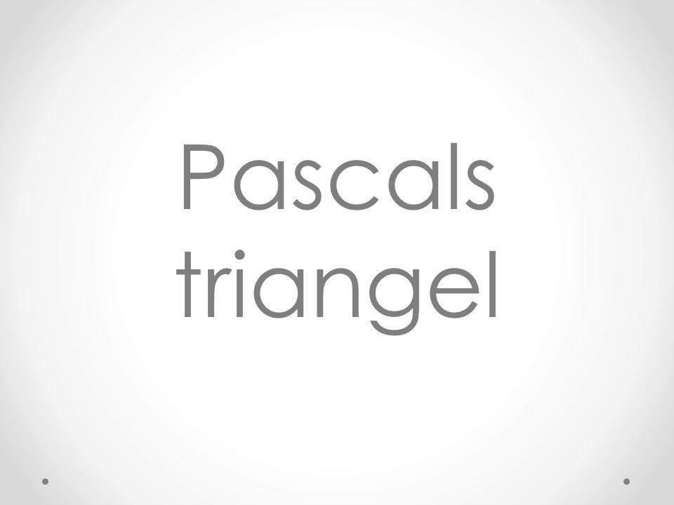 Pascals triangel