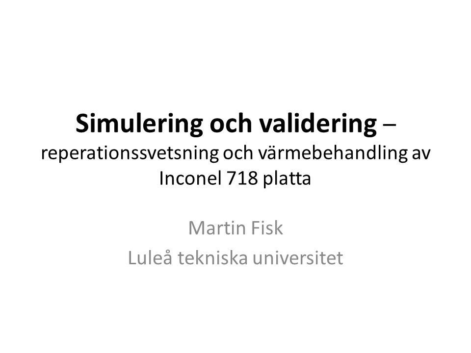 Martin Fisk Luleå tekniska universitet
