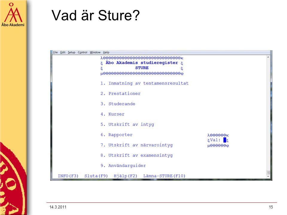 Vad är Sture 14.3.2011
