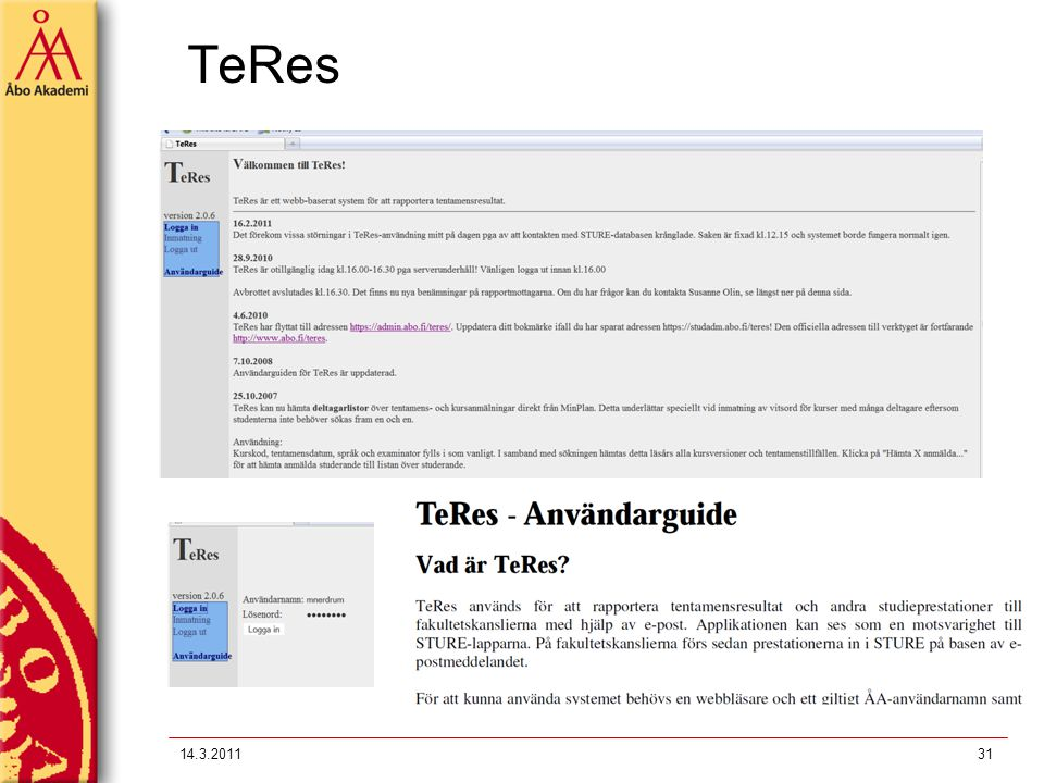 TeRes 14.3.2011
