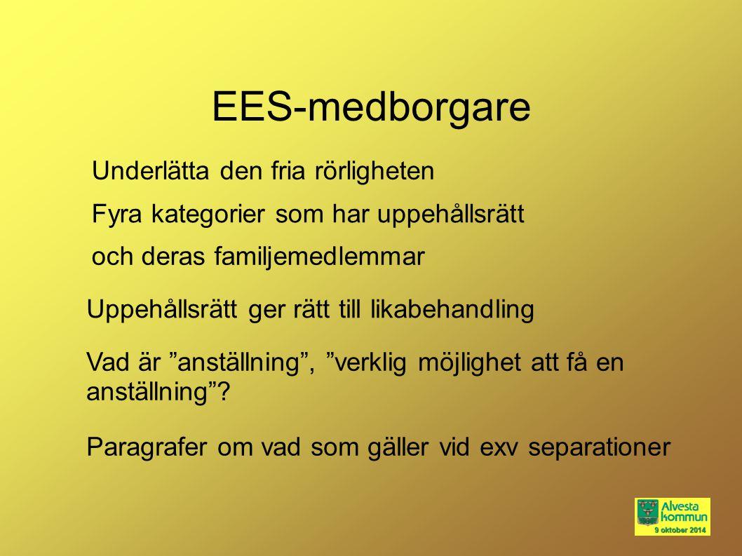 EES-medborgare Underlätta den fria rörligheten