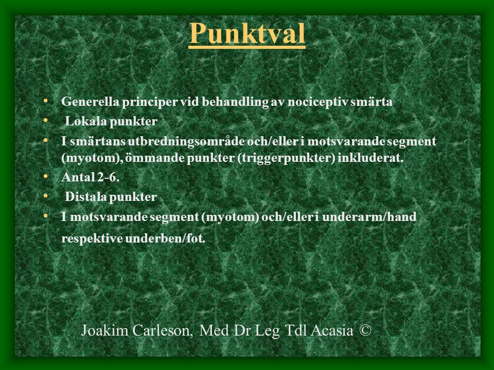 Punktval Joakim Carleson, Med Dr Leg Tdl Acasia ©