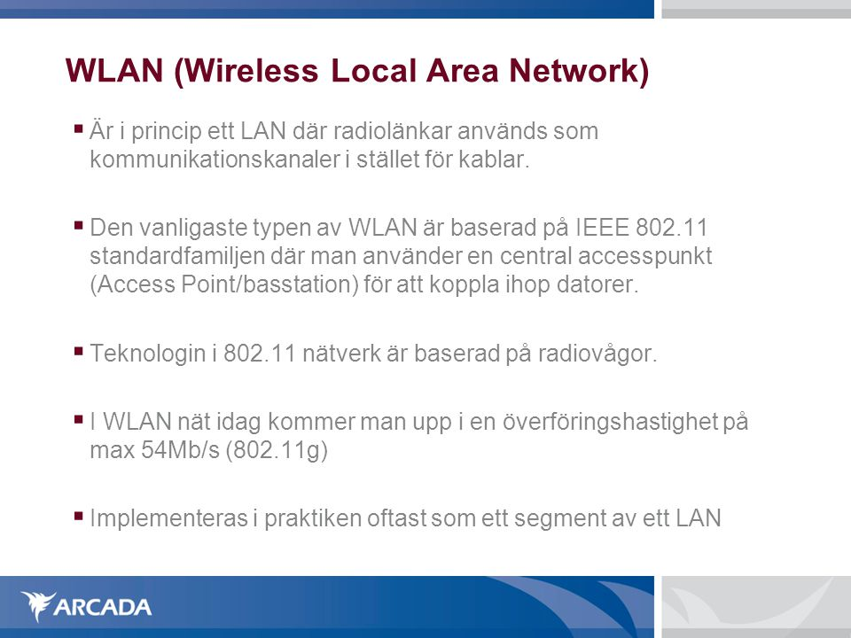 WLAN (Wireless Local Area Network)‏