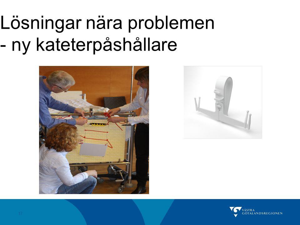 Lösningar nära problemen - ny kateterpåshållare