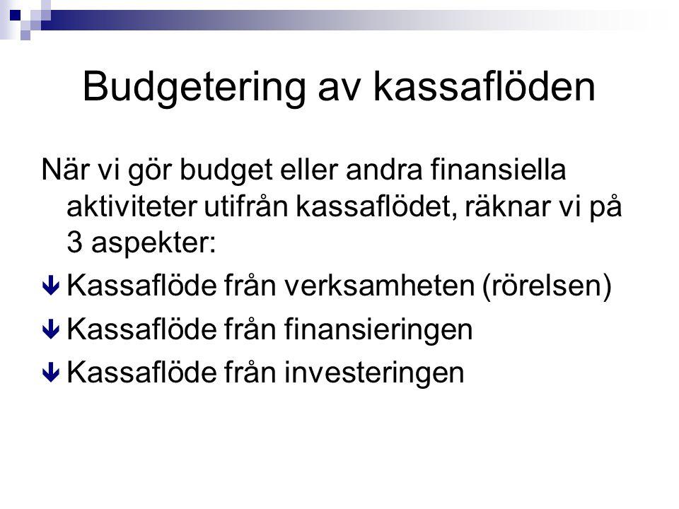 Budgetering av kassaflöden