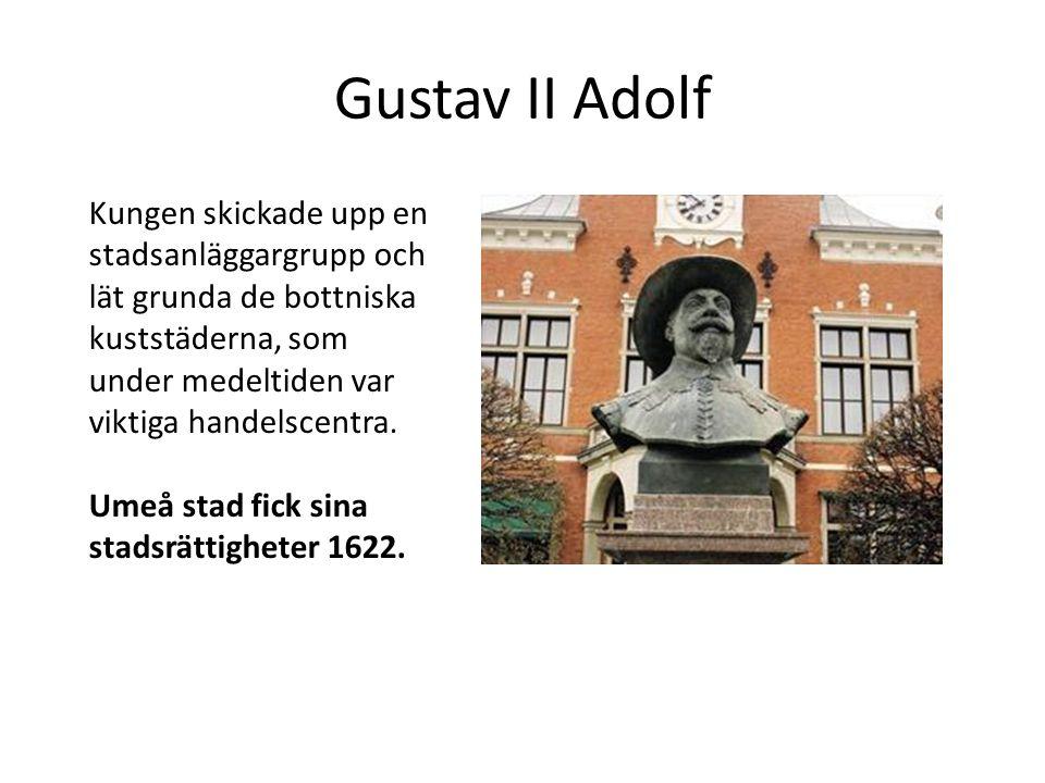 Gustav II Adolf Kungen skickade upp en stadsanläggargrupp och lät grunda de bottniska kuststäderna, som under medeltiden var viktiga handelscentra.