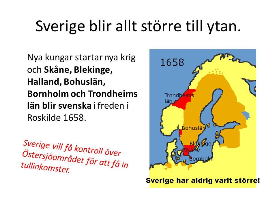 Sverige blir allt större till ytan.