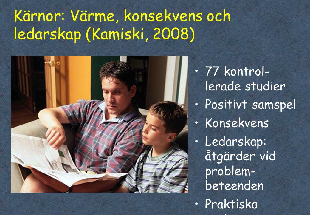 Kärnor: Värme, konsekvens och ledarskap (Kamiski, 2008)
