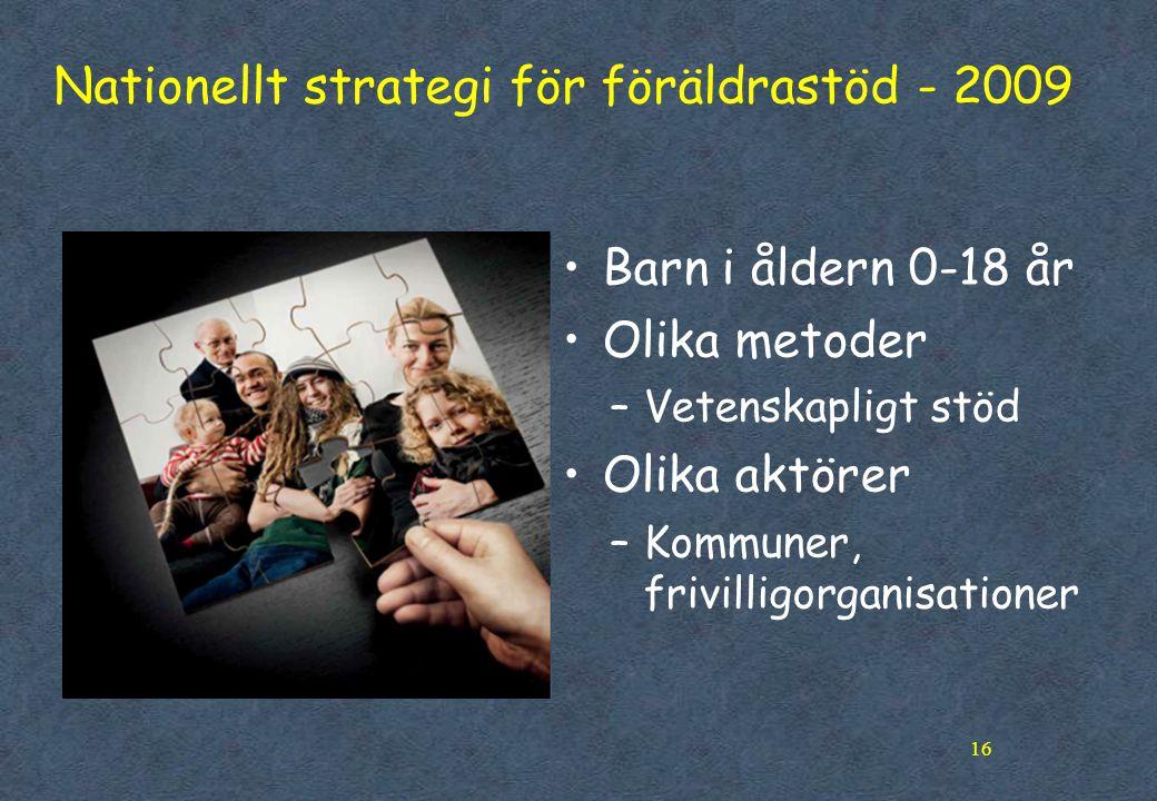 Nationellt strategi för föräldrastöd - 2009