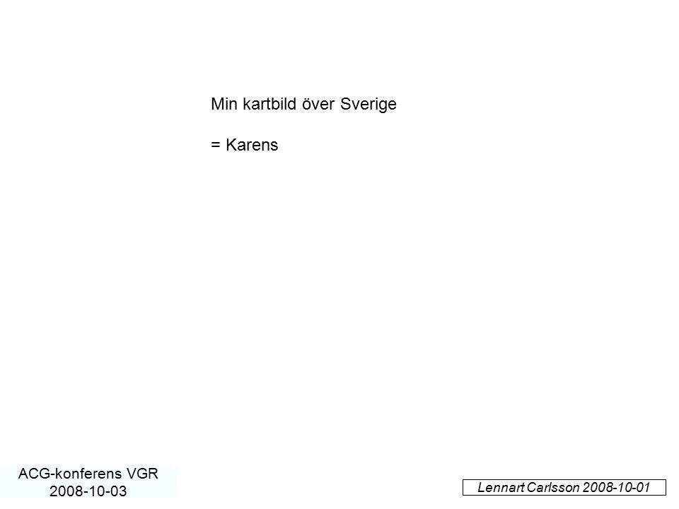 Min kartbild över Sverige = Karens