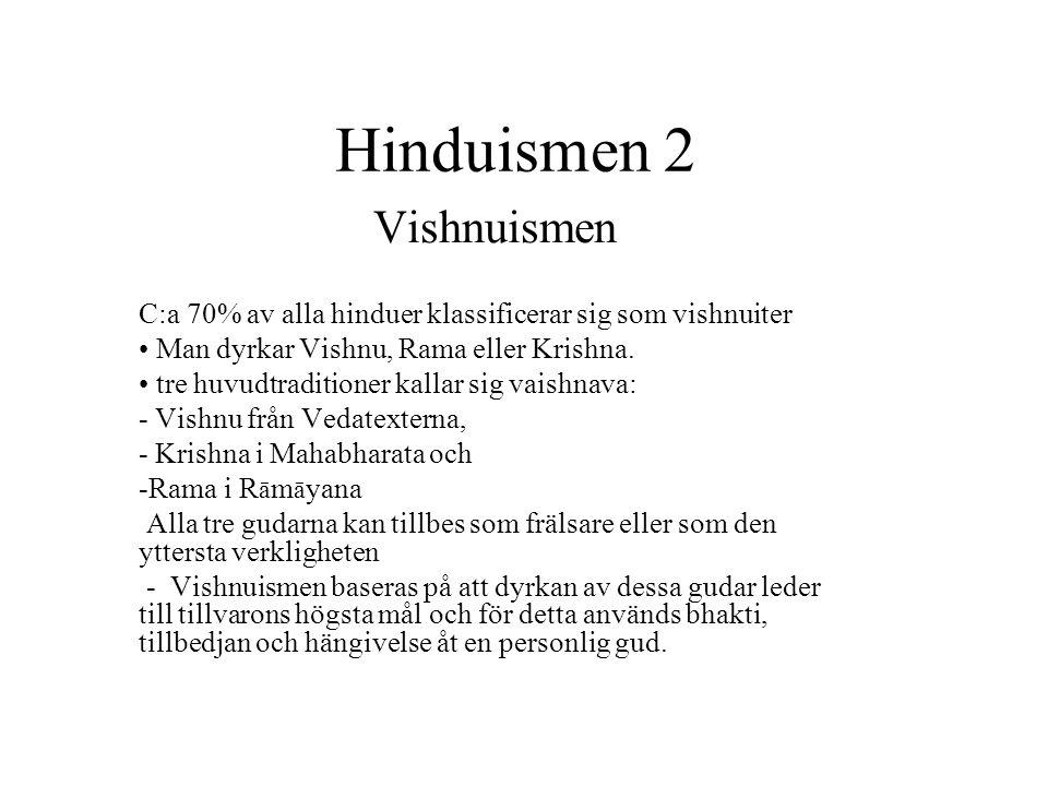 Hinduismen 2 Vishnuismen