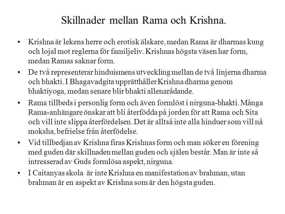 Skillnader mellan Rama och Krishna.