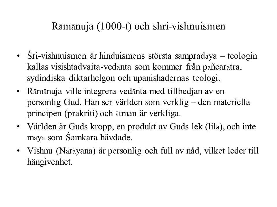 Rāmānuja (1000-t) och shri-vishnuismen