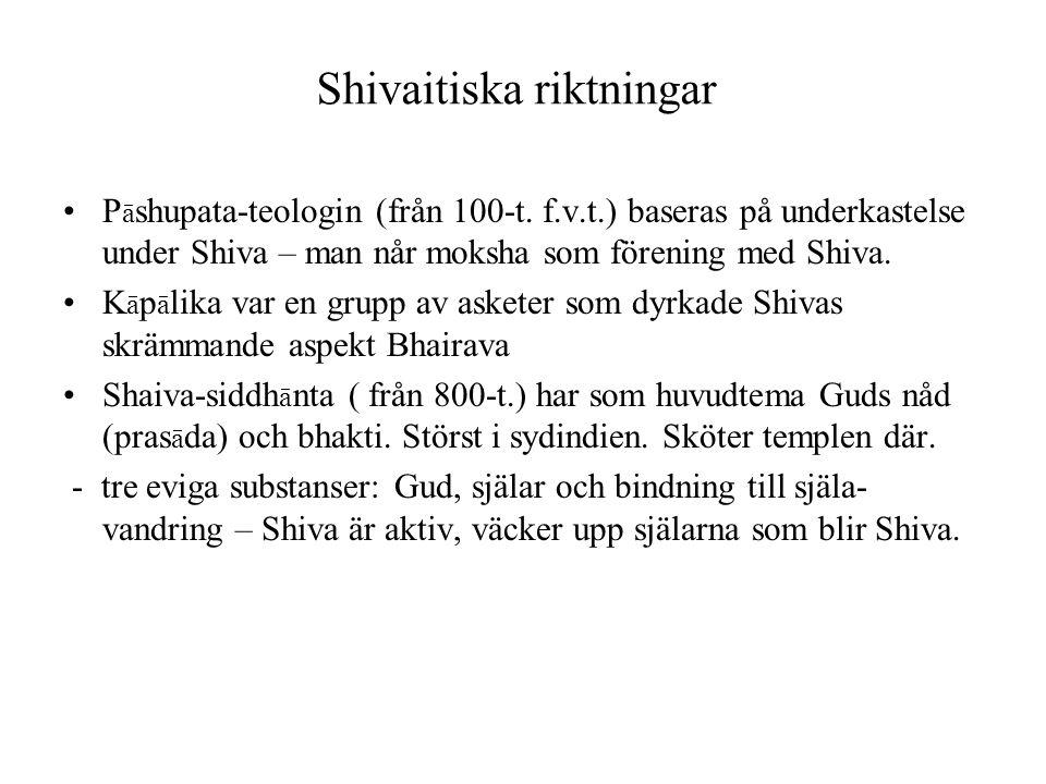Shivaitiska riktningar