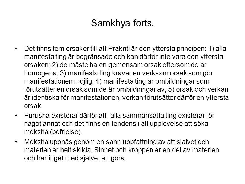 Samkhya forts.