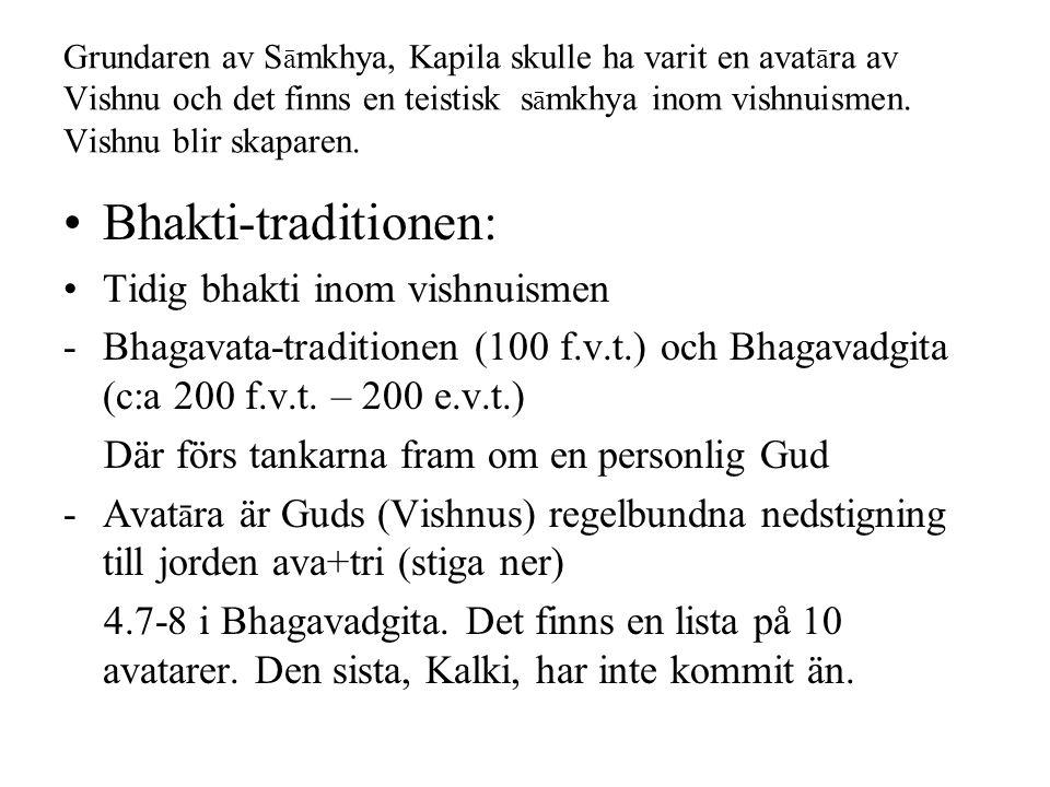 Bhakti-traditionen: Tidig bhakti inom vishnuismen