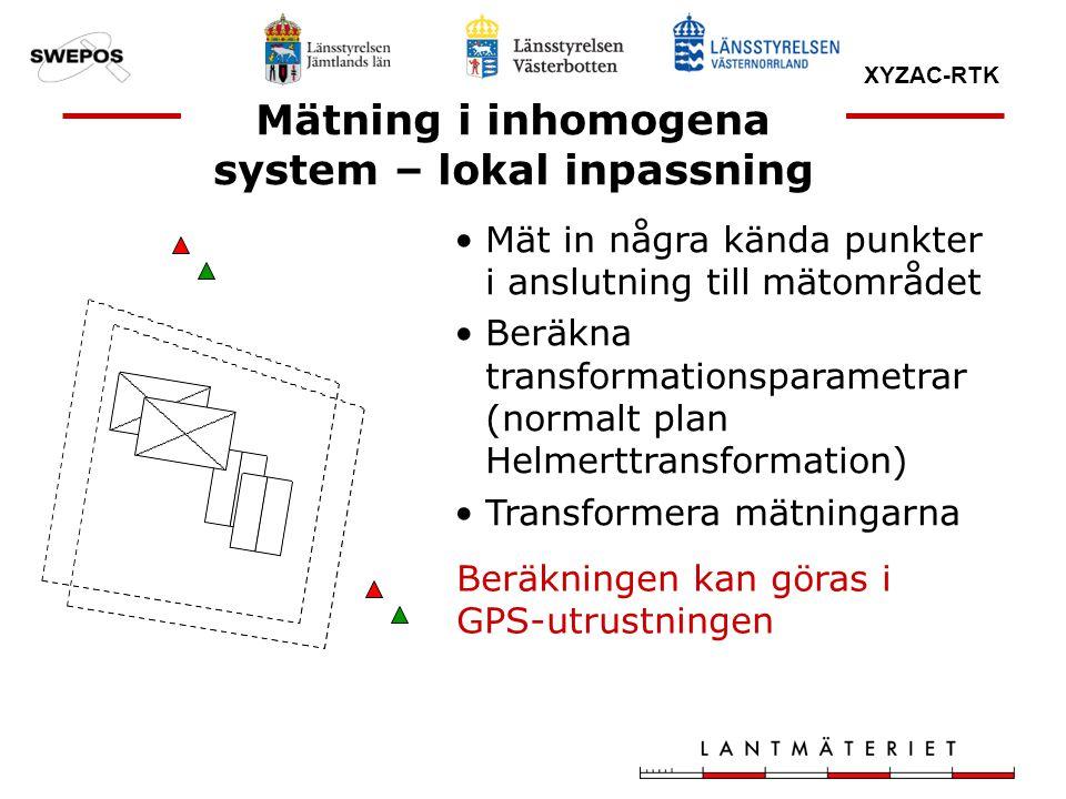 Mätning i inhomogena system – lokal inpassning