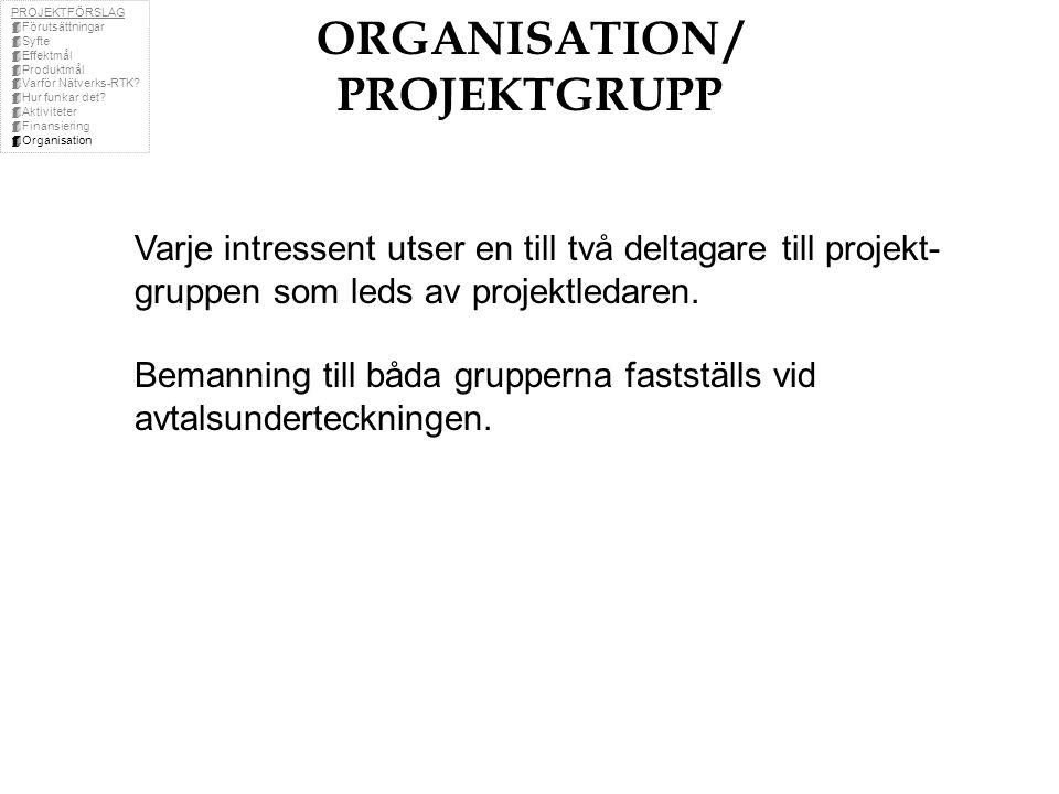 ORGANISATION / PROJEKTGRUPP