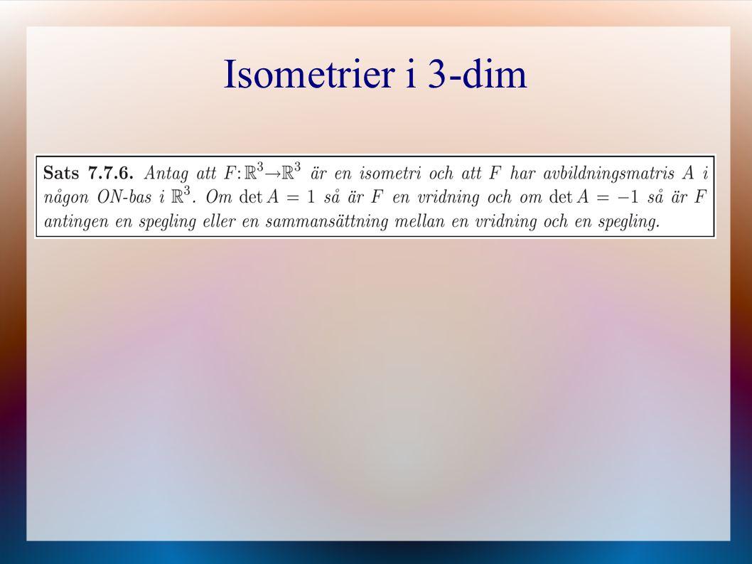 Isometrier i 3-dim