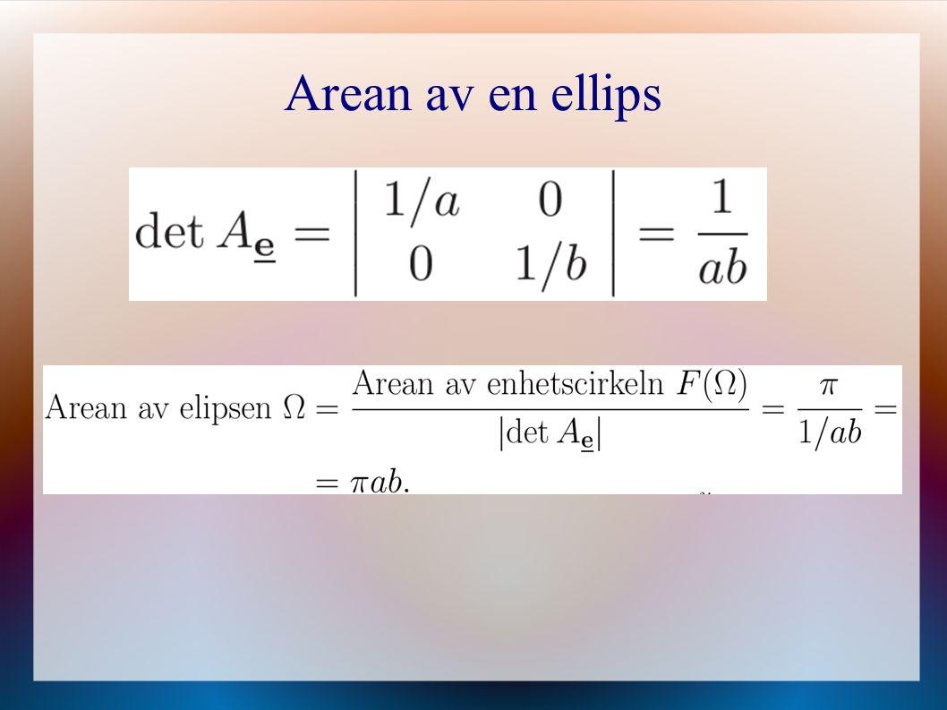 Arean av en ellips