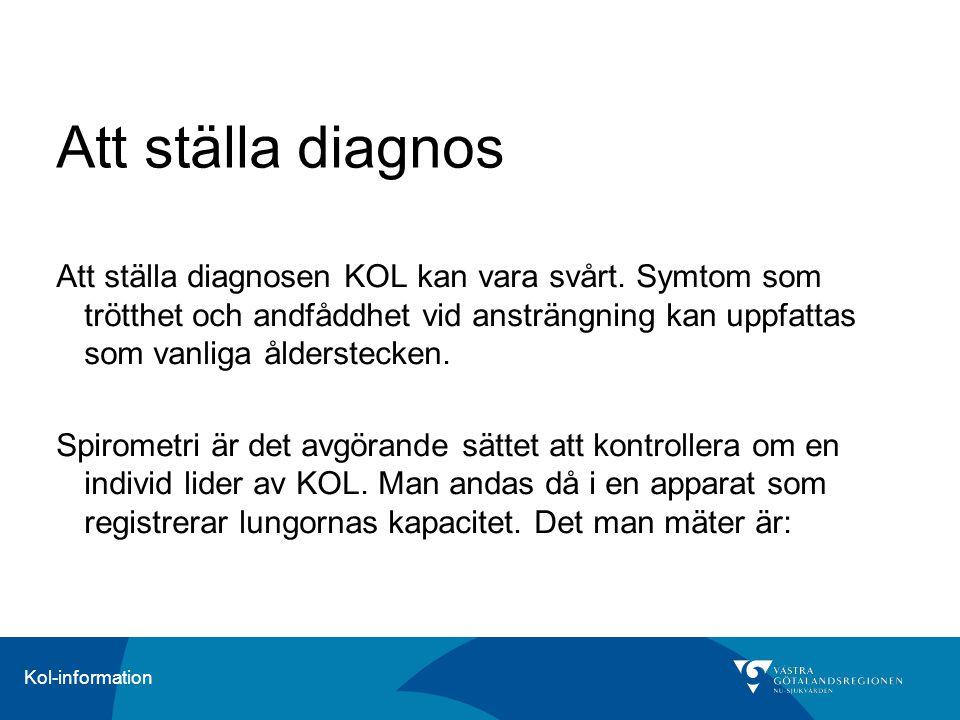 Att ställa diagnos