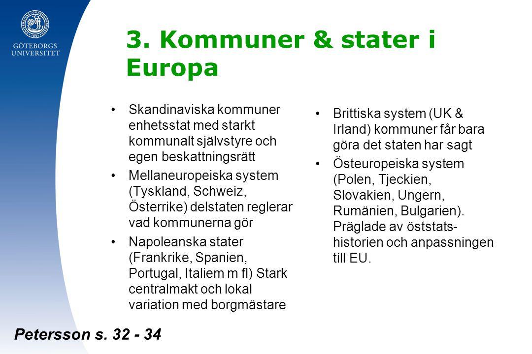 3. Kommuner & stater i Europa