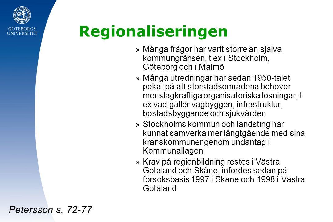 Regionaliseringen Petersson s. 72-77